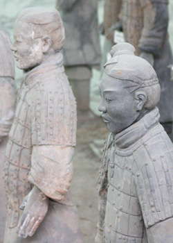 The famous Terra Cotta Warriors of Xi'an
